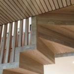 Trappe detalj. Trappen vender mot stue i andre etasje. Patio Hus i Sirevåg