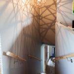 3 Patio Hus på Bryne. Skyggspil i trappe oppgang.