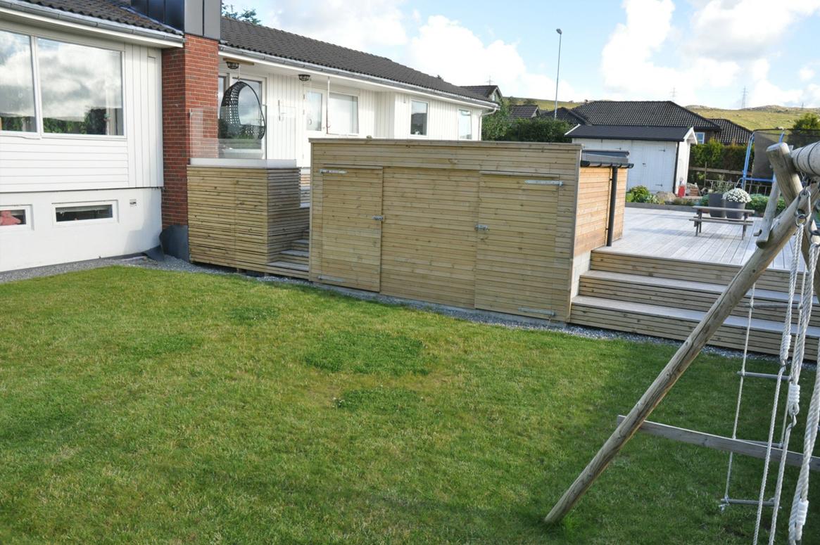 4 Seasons Garden. Lekeområdet blir definert ved den nye terrassen.