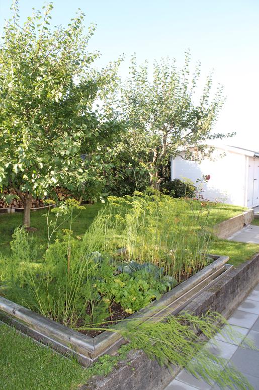 4 Seasons Garden. Sirkulasjonen i hagen er studert og kontrollert gjennom hele prosessen.