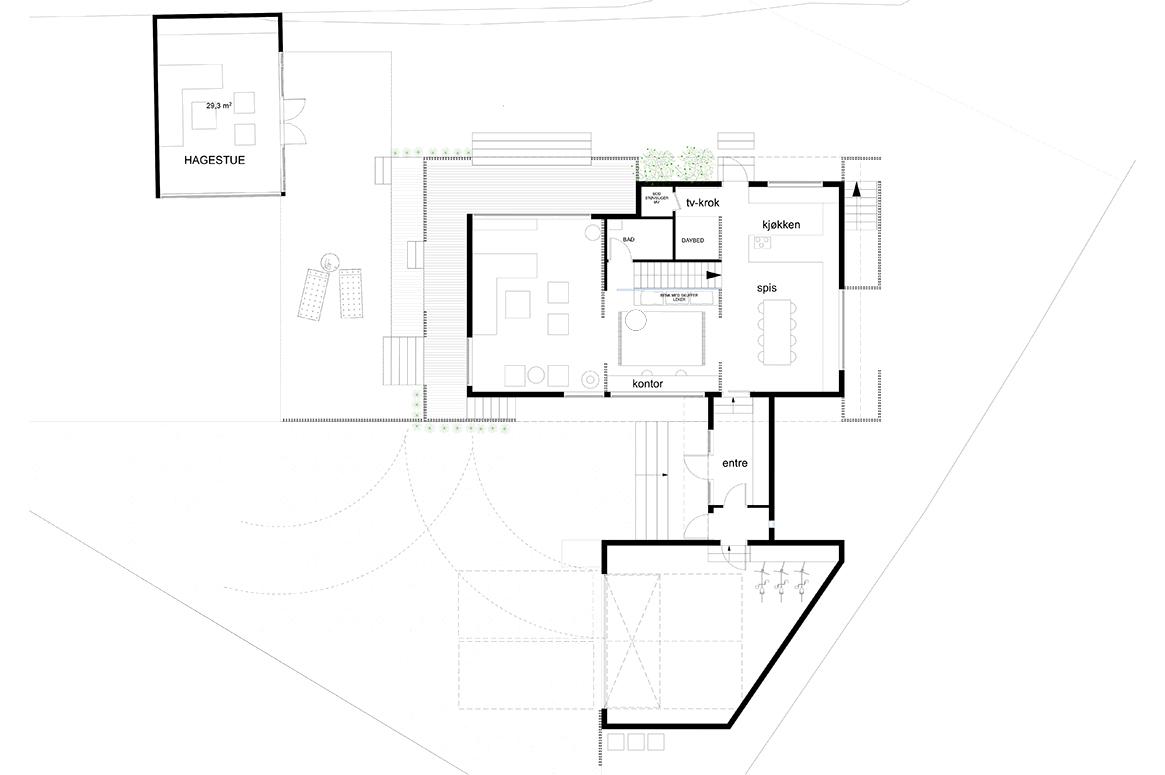ny plan. Tilbygg og fasadeendring i Sirevåg
