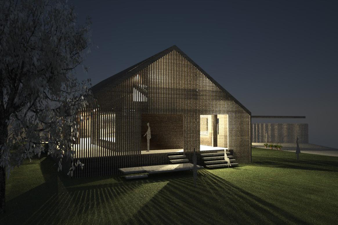 volumetri natt. Tilbygg og fasadeendring i Sirevåg