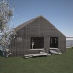 volumetri daglys. Tilbygg og fasadeendring i Sirevåg