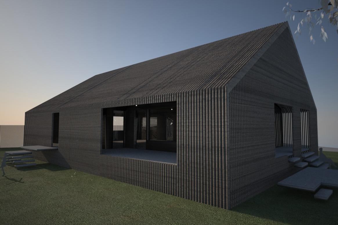 morgen lys. Tilbygg og fasadeendring i Sirevåg
