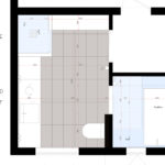 Ny planløsning gir bedre utnyttelse av det eksisterende baderommet. Totalrenovering av Bad på Våland .