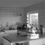 Renovering Enebolig på Tasta .Kjøkkenet er utformet for å gjøre bruken praktisk og komfortabel.