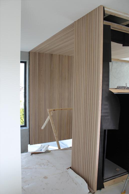 detalj møbler eik Tvillinghus på Hana